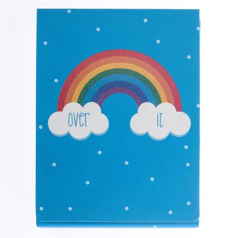 Over It Rainbow Pocket Note with Magnetic Closure