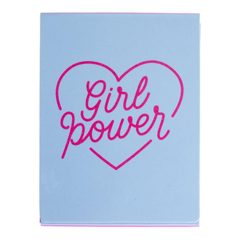 Girl Power Pocket Note in Heart Design