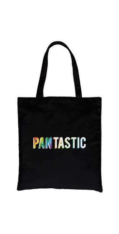 Pantastic Rainbow Canvas Bag in Black