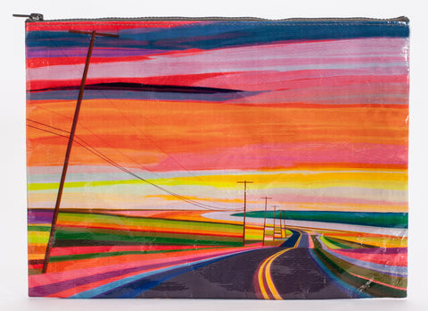 Sunset Highway Jumbo Zipper Pouch in Recycled Material