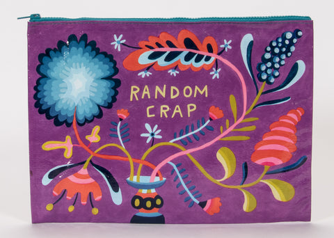 Random Crap Jumbo Pouch in Floral and Purple