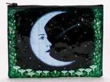Face Moon Recycled Material Cute/Cool/Unique Zipper Pouch/Bag/Clutch/Cosmetic Bag