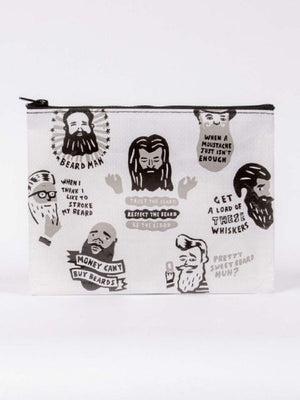 Beards Recycled Material Cute/Cool/Unique Zipper Pouch/Bag/Clutch/Cosmetic Bag
