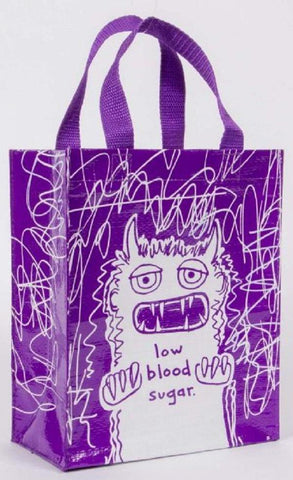 Last Call! Low Blood Sugar Handy Tote in Purple Recycled Material