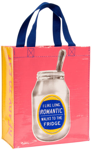 I Like Long Romantic Walks to the Fridge Handy Tote