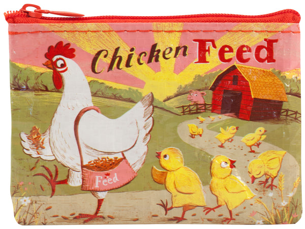 Chicken Feed Zippered Coin Purse