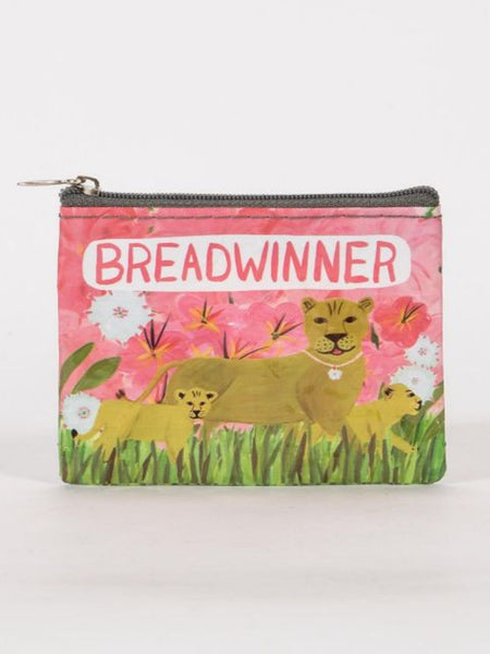 Breadwinner Lioness and Female Cubs Recycled Material Cool Small/Mini Zip Coin/Change Purse/Bag/Pouch/Wallet