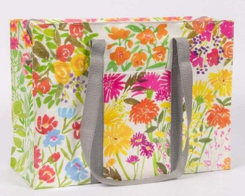 Flower Garden Shoulder Tote Bag in Recycled Material