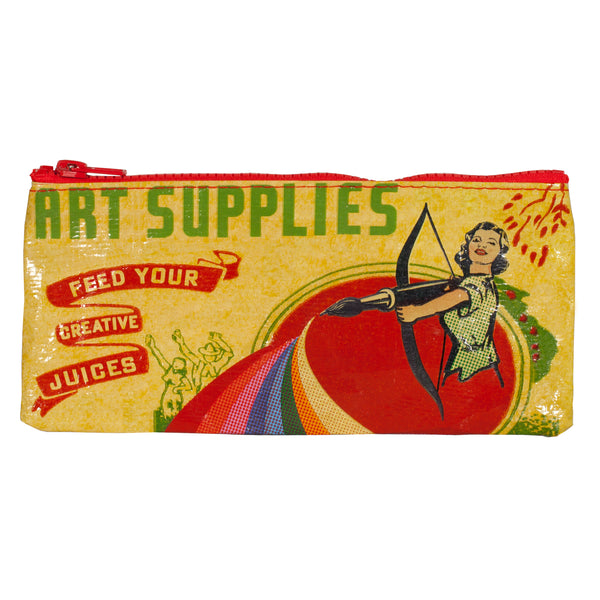 Colorful Art Supplies Pencil Case in Recycled Material
