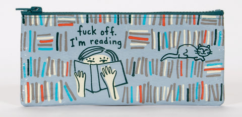 F*ck Off I'm Reading Pencil Case with Girl and Cat
