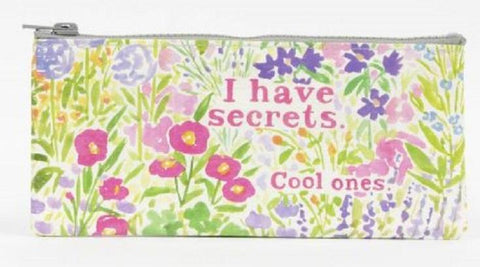I Have Secrets Pencil Case in Recycled Material