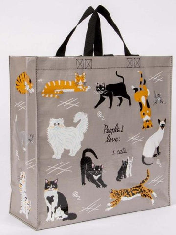 People I Love Cats Shopper Bag in Recycled Material