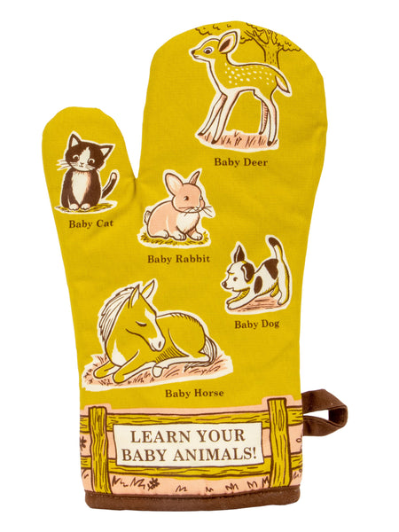 Learn Your Baby Animals Oven Mitt with Animal Design
