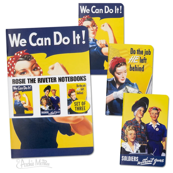 Rosie the Riveter Pocket Journal Notebook - Set of 3