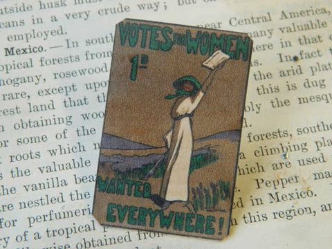 Feminist Votes for Women Suffrage Lapel Pin