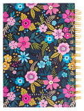 Navy Floral Hard Bound Journal