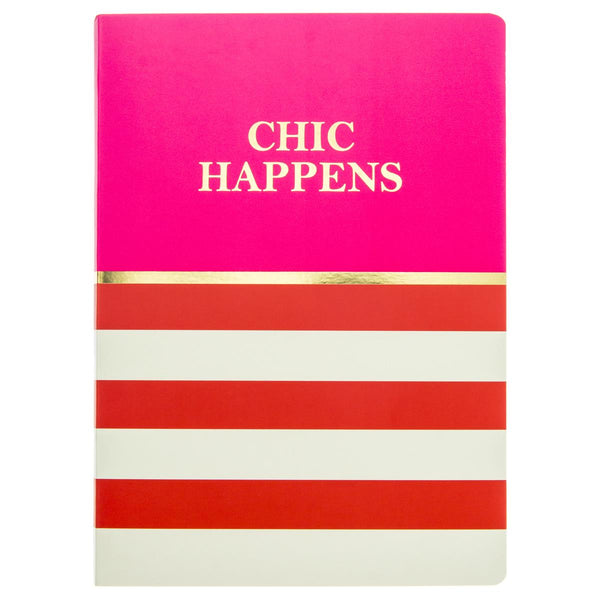 Chic Happens Soft Cover Journal in Pink and Red