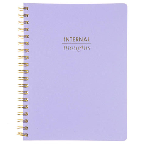 Internal Thoughts Spiral Vegan Leather Journal