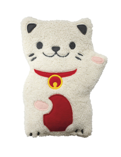 Huggable Lucky Cat Heatable Pillow