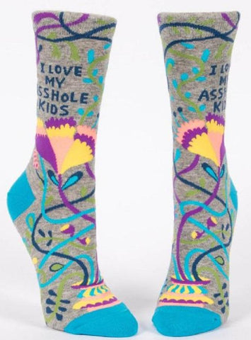 I Love My Asshole Kids Women's Crew Socks