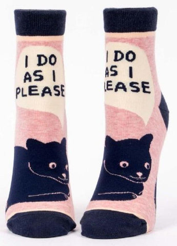 I Do As I Please Women's Ankle Socks in Pink