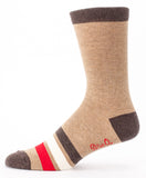 Natural Born Asshole Men's Socks in Brown, Red and White