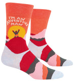 I'm An Adventure Man Men's Crew Socks, Hipster/Nerdy/Geeky/Trendy, Funny Novelty Socks with Cool Design, Bold/Crazy/Unique Specialty Dress Socks