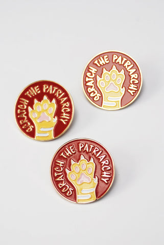 Scratch The Patriarchy Feminist Enamel Pin