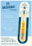 Getting Out of Bed Isn't for Everyone Toothbrush | Soft BPA-Free Funny Toothbrush Packaged for Gifting | Art on Both Sides