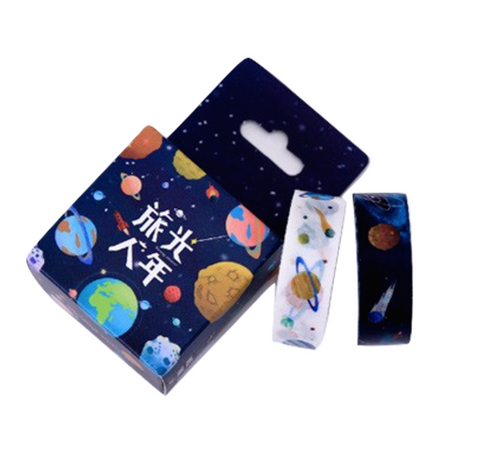 Dark + Light 2-Pack Outer Space Washi Tape