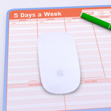 5 Days a Week Pen to Paper Mousepad
