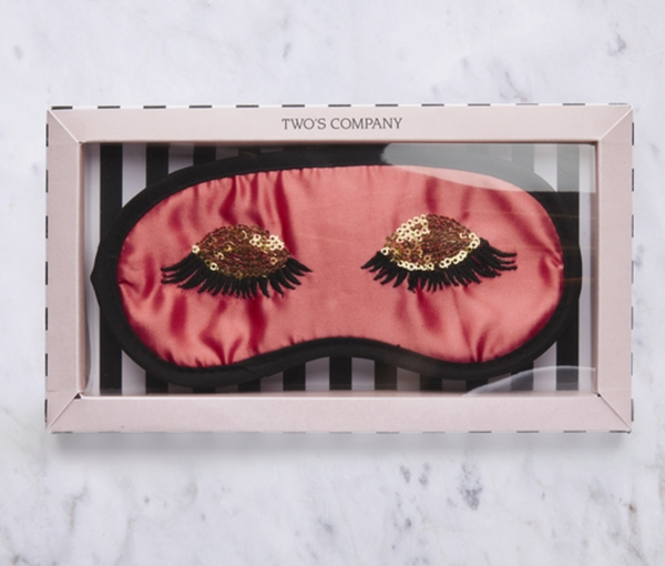 Sleeping Beauty Eye Mask / Sleep Mask in Dark Pink