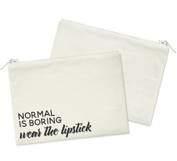 Normal Is Boring Heavy Cotton Canvas Cosmetic Bag