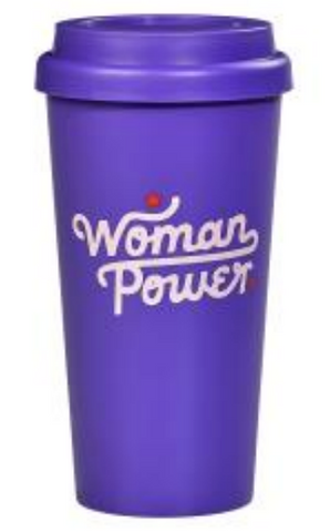 Woman Power Travel Mug in Purple