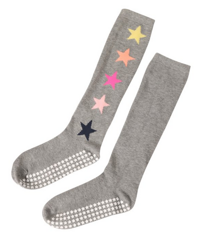 Shoot For The Stars Knee High Unisex Barre Socks