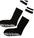Let's Get Physical Calf High Grip Socks in Black and White