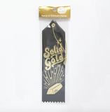 Solid Gold Award Ribbon in Black with Gold