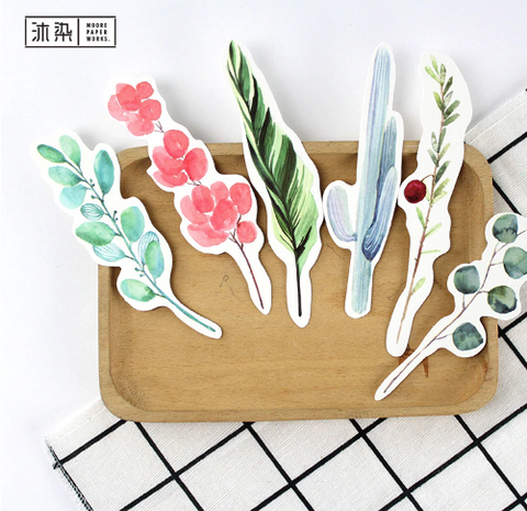 30-Pack Floral/Grass Design Paper Bookmark