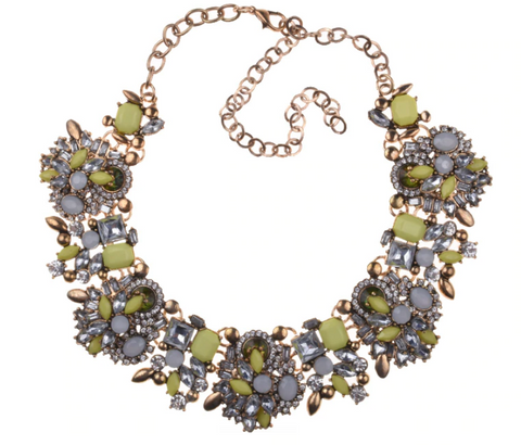 Royal Stone Choker Necklace in Sunshine Yellow