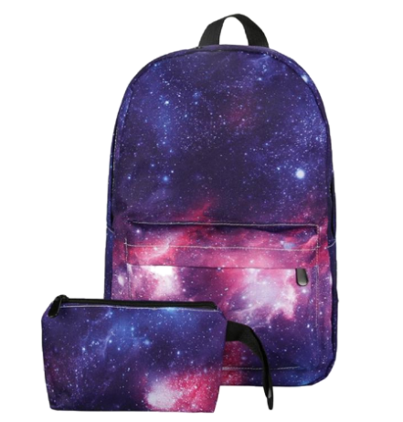 Galaxy Backpack and Matching Clutch