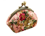 Mini Canvas Coin Purse in Victorian Flower Designs