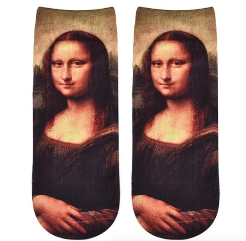 Mona Lisa Novelty Ankle Socks