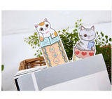 30-Pack of Cat Cartoon Paper Bookmarks