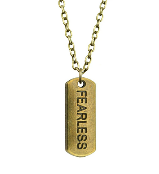 Fearless Necklace in Dark Brass
