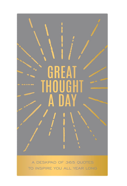 Great Thought A Day Inspirational Notebook in Gray and Gold