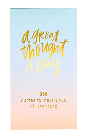 Great Thought A Day Inspirational Notebook in Pastel Ombré and Gold