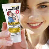 Rosie the Riveter Anti Bacterial Hand Gel Hand Sanitizer | Pocket Size 2 fl oz | 75% Alcohol | Aloe Vera & Rosemary