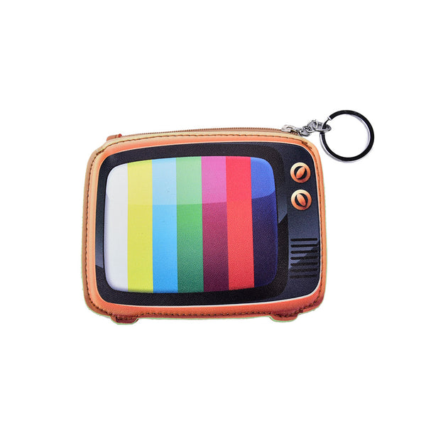 Retro TV Set Multicolor Cute Cool Small/Mini Zip Coin/Change Purse/Bag/Pouch/Wallet