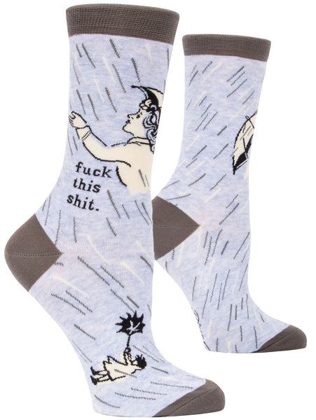 Fuck This Shit Women's Crew Socks, Hipster/Nerdy/Geeky/Trendy, Funny Novelty Socks with Cool Design, Bold/Crazy/Unique Specialty Dress Socks