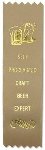 Self-Proclaimed Craft Beer Expert Adulting Award Ribbon on Gift Card